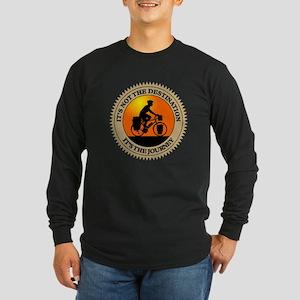 Its The Journey Long Sleeve Dark T-Shirt