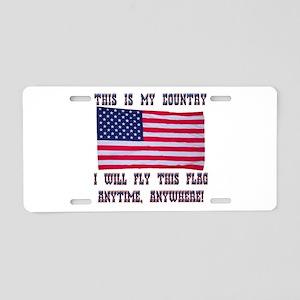 Flag2 Aluminum License Plate