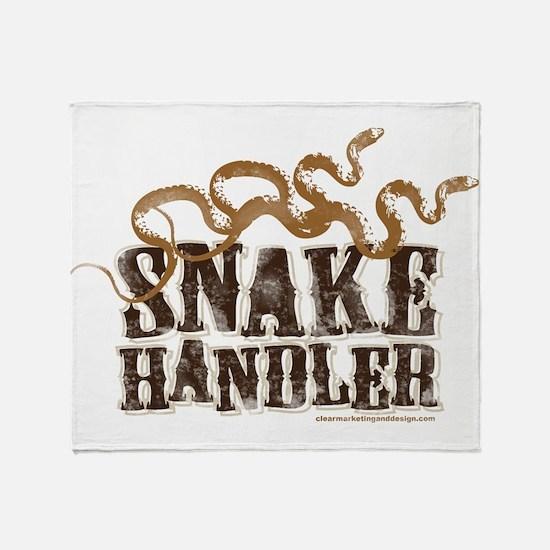 Snake Handler Throw Blanket