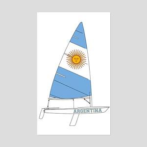 Argentina Sailing Sticker (Rectangle)