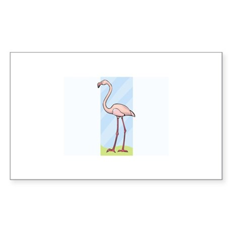 Flamingo Sticker (Rectangle)