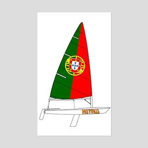 Portugal Dinghy Sailing Sticker (Rectangle)