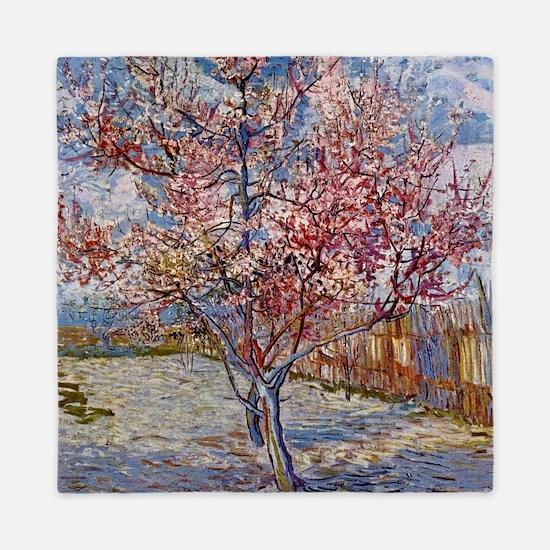 Van Gogh Peach Tree In Bloom Queen Duvet