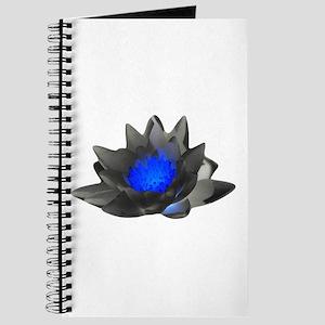 Neon Blue Lotus Journal