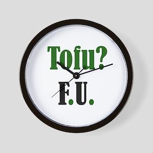 Tofu? F.U. Wall Clock