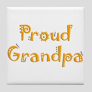 Proud Grandpa Tile Coaster