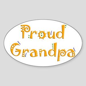 Proud Grandpa Oval Sticker