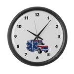 EMS Ambulance Large Wall Clock