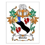 Quicke Coat of Arms Small Poster