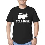 Cold Beer Men's Fitted T-Shirt (dark)
