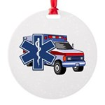 EMS Ambulance Round Ornament