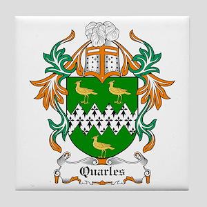 Quarles Coat of Arms Tile Coaster