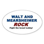 Walt Mearsheimer Oval Sticker