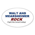 Walt Mearsheimer Oval Sticker