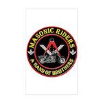 Masonic Bikers Sticker (Rectangle)