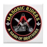 Masonic Bikers Tile Coaster