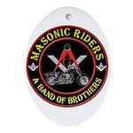 Masonic Bikers Ornament (Oval)