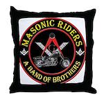 Masonic Bikers Throw Pillow