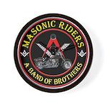 Masonic Bikers Wall Clock