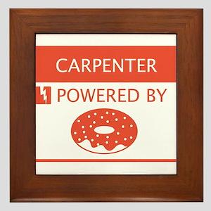 Carpenter Powered by Doughnuts Framed Tile