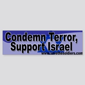 Condemn Terror, Support Israel Bumper Sticker