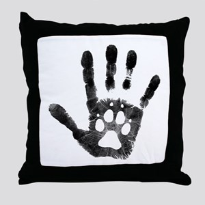 Lobo Paw Print Throw Pillow