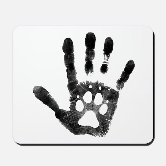 Lobo Paw Print Mousepad