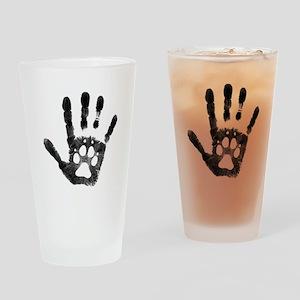 Lobo Paw Print Drinking Glass