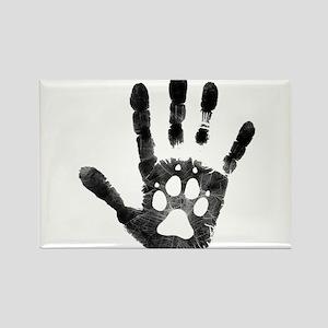 Lobo Paw Print Rectangle Magnet