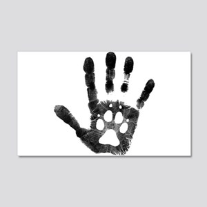 Lobo Paw Print 20x12 Wall Decal