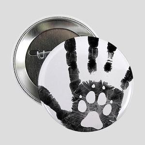 """Lobo Paw Print 2.25"""" Button"""