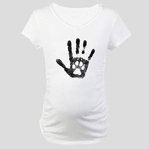 Lobo Paw Print Maternity T-Shirt