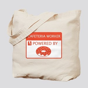 Cafeteria Worker Powered by Doughnuts Tote Bag