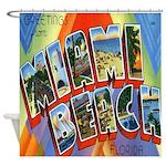 Miami Beach Postcard Shower Curtain