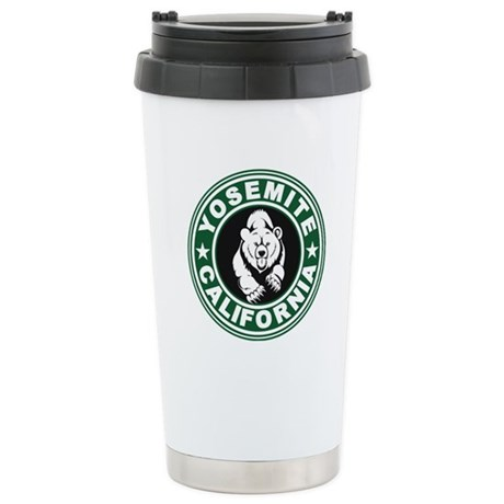 Yosemite Green Circle Stainless Steel Travel Mug