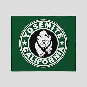 Yosemite Green Circle Throw Blanket