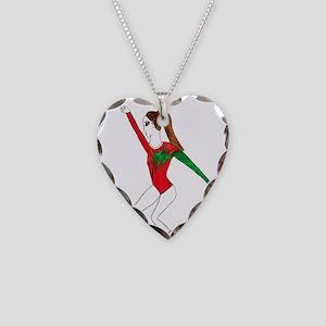 Gymnastics Necklace Heart Charm