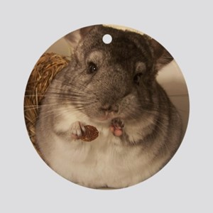 Lovely chinchillas Ornament (Round)