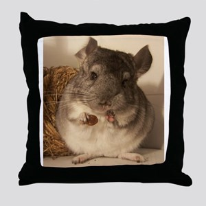 Lovely chinchillas Throw Pillow