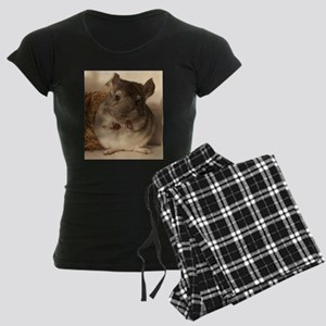 Lovely chinchillas Women's Dark Pajamas
