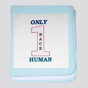 Only One Race baby blanket
