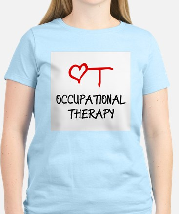 Occupational Therapy Heart Women's Colored T-Shirt