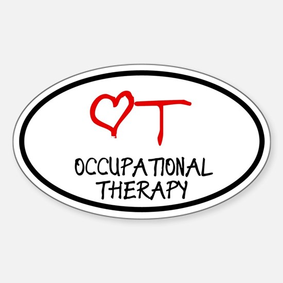 Occupational Therapy Heart Oval Decal