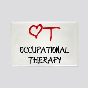 Occupational Therapy Heart Rectangle Magnet