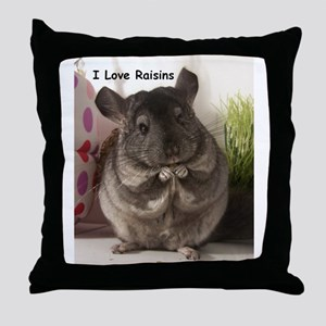 Chinchilla raisins Throw Pillow