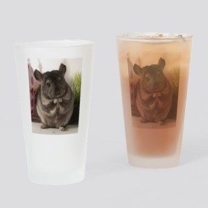 lovely chinchilla Drinking Glass