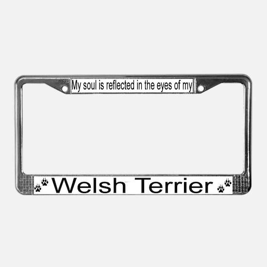 """Welsh Terrier"" License Plate Frame"