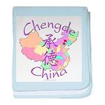 Chengde China Map baby blanket