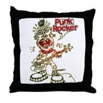 Punk Rocker Throw Pillow