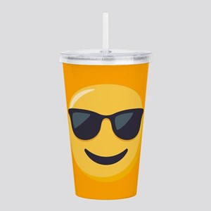 Sunglasses Emoji Acrylic Double-wall Tumbler